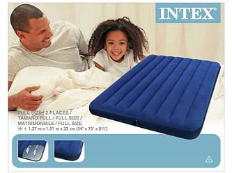 Надувний матрац Intex 64758 (137х191х25см)