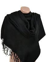 Вязаный шарф палантин черный