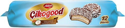 Cikogood Cocoa Coated Marshmallow Sandwich Biscuit With Coconut
