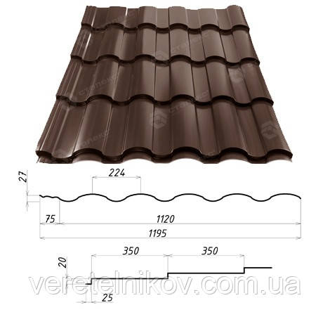 Металлочерепица VALENCIA™ (Валенсия) – металлочерепица для требовательных. 0,45 мм. - 0,5 мм.