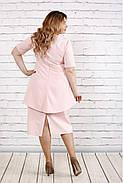 Женское платье нарядное 0752 цвет пудра / размер 42-74 / больших размеров , фото 4