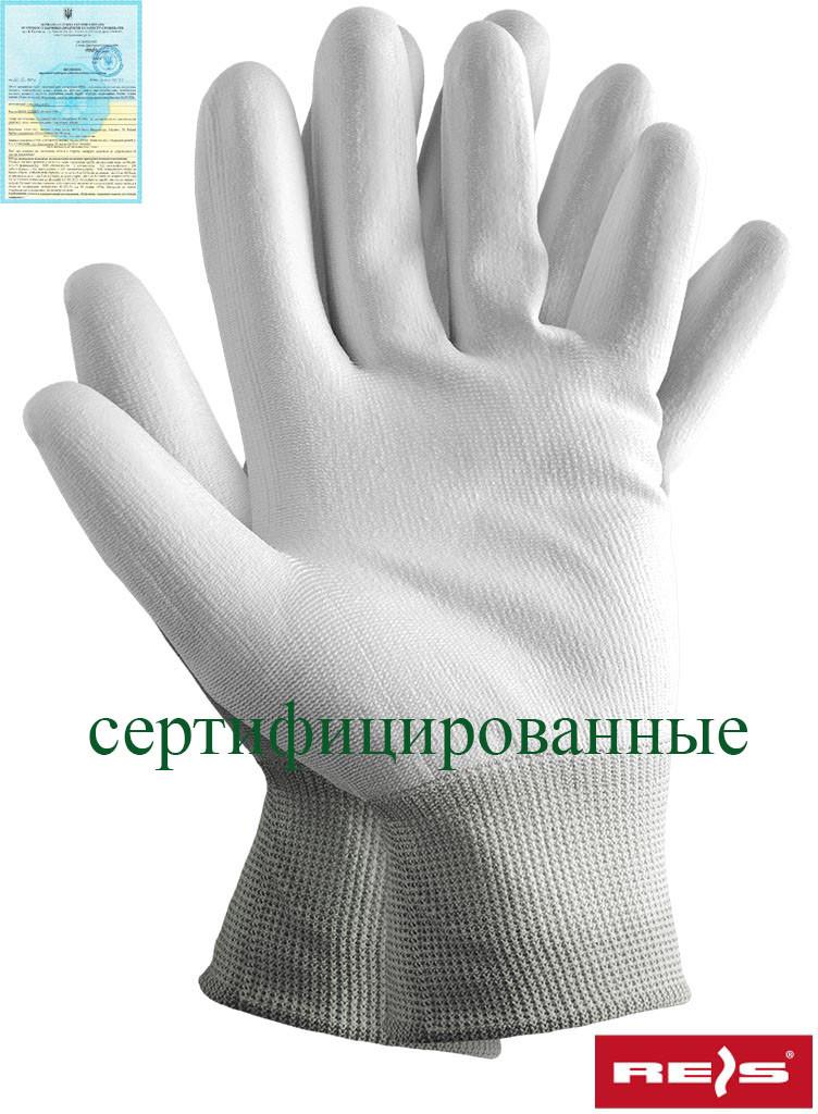 Защитные рукавицы изготовленные из полиэстера, покрытые полиуретаном RTEPO WW