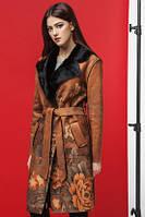 Куртка пальто экозамш с мехом Kiro Tokao 8580M