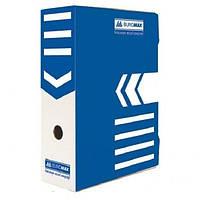 Короб архивный Buromax BM3261,картон,10см в ассорт. Синий