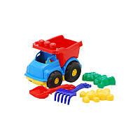 Машина Тотошка самосвал №2 арт. 0176, игрушечная машинка, грузовик, пасочки, лопатка, грабли
