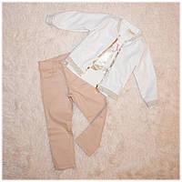 Кожаная куртка + джинсы весенние нарядные ТМ Bebyrose размер 98-104