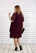 Женское платье свободного покроя 0751 цвет баклажан / размер 42-74 / больших размеров , фото 4