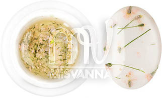 Гель с сухоцветом 5 г №3 белый с салатовым отливом