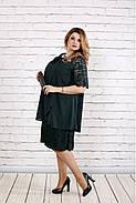 Женское платье свободного покроя 0751 цвет зеленый / размер 42-74 / больших размеров , фото 2