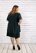 Женское платье свободного покроя 0751 цвет зеленый / размер 42-74 / больших размеров , фото 4