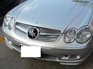Решетка радиатора Mercedes SL R230 (01-06) стиль AMG (хром)
