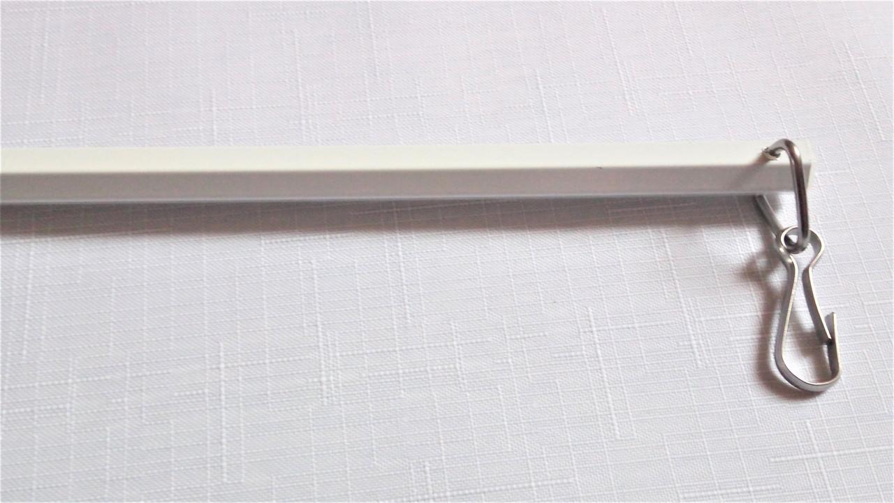 Палочка для штор алюминиевая Forest (белый) 122см