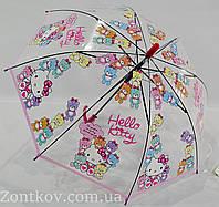 """Детский зонтик трость для девочек с """"HelloKitty"""" на 4-8 лет от фирмы """"Paolo""""."""
