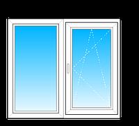 Окно Lider 58 из двух частей  стеклопакет однокамерный энергосберегающий