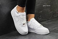 Кроссовки Nike Air Force (белые) кожаные кроссовки найк nike