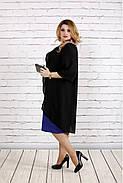 Женское платье с кружевом больших размеров 0747 цвет фиолетовый / размер 42-74 , фото 2