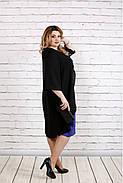 Женское платье с кружевом больших размеров 0747 цвет фиолетовый / размер 42-74 , фото 3