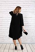 Женское платье с кружевом больших размеров 0747 цвет фиолетовый / размер 42-74 , фото 4