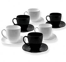 Сервиз чайный Luminarc CARINE White&Black 220*6 2371D