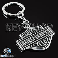 Металлический брелок для ключей с логотипом Harley - Davidson (Харли - Дэвидсон)