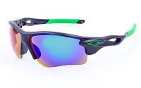 Очки спортивные солнцезащитные OAKLEY MS-2496 (салатовый)