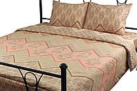 Комплект постельного белья из бязи, полуторный.
