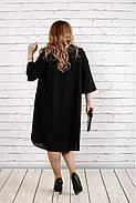 Женское платье с кружевом больших размеров 0747 цвет алый / размер 42-74 , фото 4