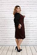 Женское платье с пышными рукавами 0746 цвет терракот / размер 42-74 / батал  , фото 3