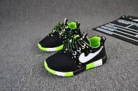 Кроссовки детские под Nike черно-салатовые Одесса