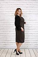 Женское платье с пышными рукавами 0746 цвет бежевый / размер 42-74 / батал  , фото 3