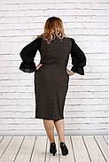 Женское платье с пышными рукавами 0746 цвет бежевый / размер 42-74 / батал  , фото 4