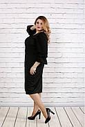 Женское платье с пышными рукавами 0746 цвет темно зеленый / размер 42-74 / батал  , фото 2