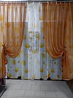 К-т занавесок Классик цвет жёлтый с охрой