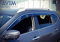 Дефлекторы окон (ветровики) Nissan Qashqai 2014-  (с хром молдингом), фото 1