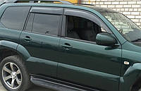 Дефлекторы окон (ветровики) Toyota Land Cruiser Prado 120/Lexus GX470 2003-2009 (широкие) , фото 1