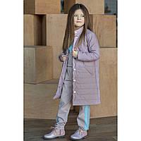 Элитная коллекция детской одежды. Модная куртка-пальто для девочки 110-152р