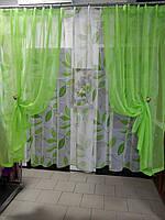 К-т занавесок Классик цвет зеленый