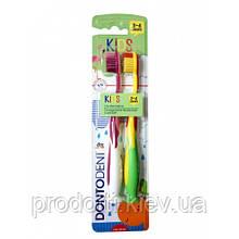 Зубные щетки Dontodent kids  для детей от 3 до 6 лет 2 шт