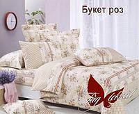 Комплект постельного белья TAG  Букет роз Ранфорс Двуспальный Евро