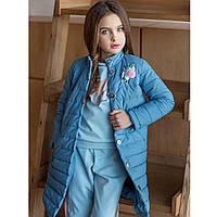 Элитная весенняя коллекция детской одежды. Модная куртка-пальто для девочки 110-152р