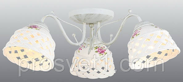 Потолочная люстра Arte Lamp Wicker A6616PL-3WG