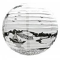 Бумажный китайский фонарик Лодка