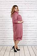 Женское платье скрывающее недостатки 0744 цвет фрез / размер 42-74 , фото 3