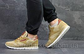 Кроссовки Reebok Classic  бежевые  замшевые кроссовки Reebok, фото 3