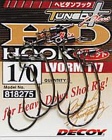 Крючок Decoy Worm 117 HD Hook offset 2/0, 4шт