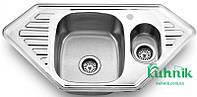 Мойка кухонная угловая Kraft M9550C_0,8 mm (декор)