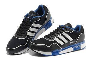 Кроссовки мужские Adidas ZX-900 черны с синим