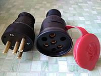 Разъем силовой 380V--3*25A  3P+N кабельный