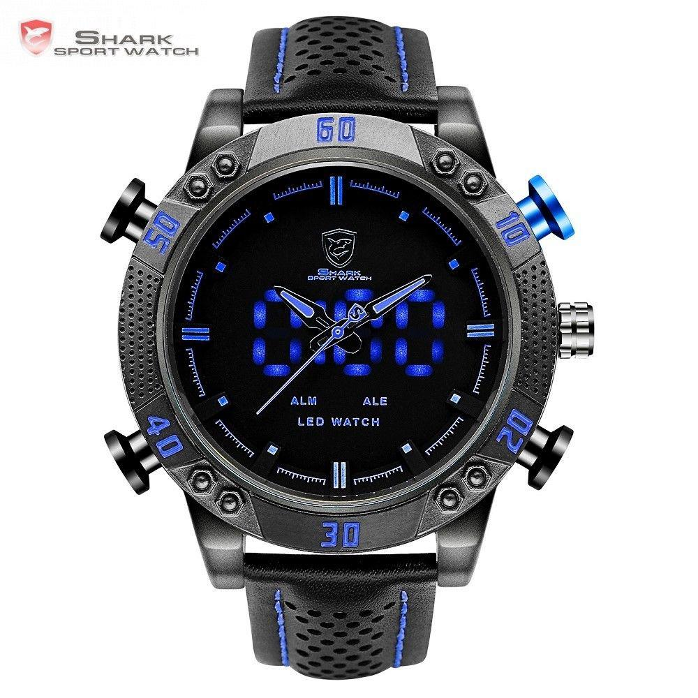 1ca58c28cdaa Мужские часы SHARK LED Digital Blue Sport Watch   продажа, цена в ...