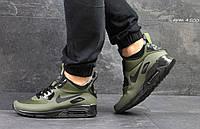 Кроссовки Nike Air Max 90 Ultra Mid (темно зеленые) кроссовки найк nike